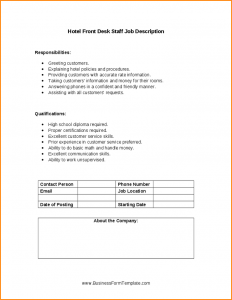 generic application form front desk manager job description hotel front desk staff job description