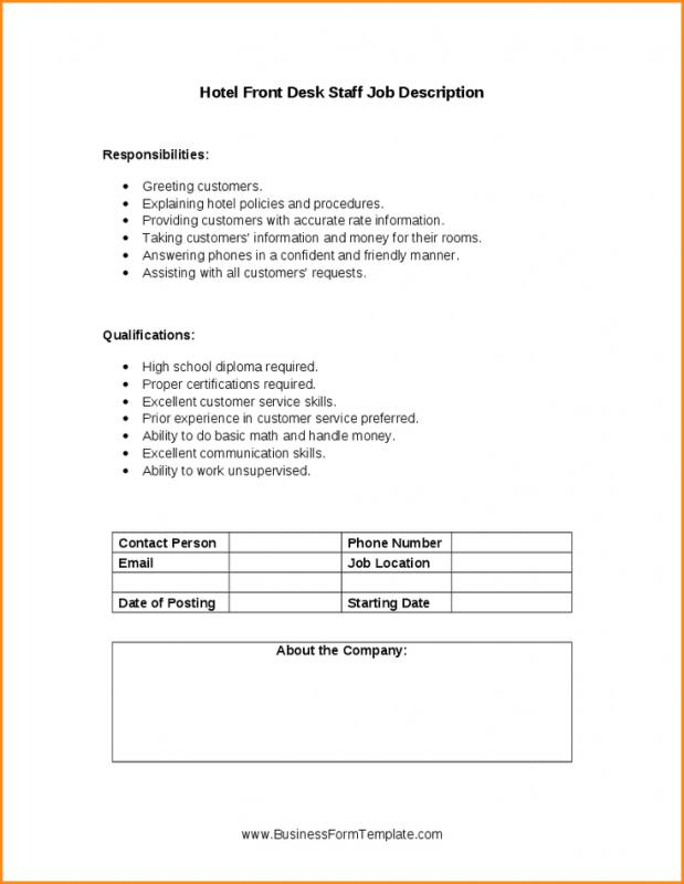 generic application form