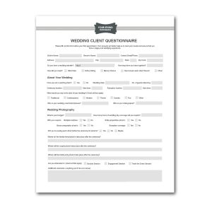 generic bill of sale for car wedding photography contract template