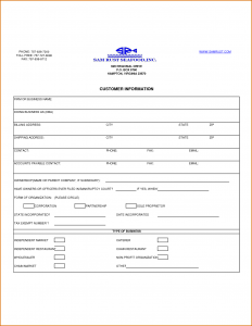 generic car bill of sale customer information form template