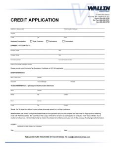generic job application pdf credit reference form