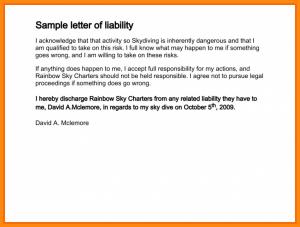 generic reference letter disclaimer letter sample disclaimer letter example sample letter of liability