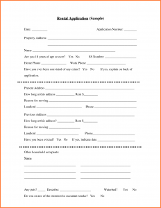 generic rental application generic rental application