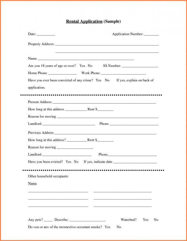 generic rental application