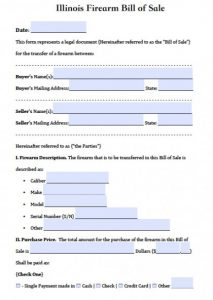 Bill Of Sale Illinois >> Generic Vehicle Bill Of Sale Template Business