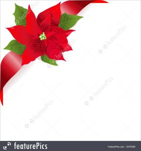 gift card envelope templates red poinsettia stock illustration