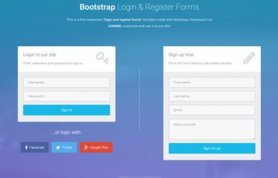 gift certificate template pages bootstrap free login register forms template