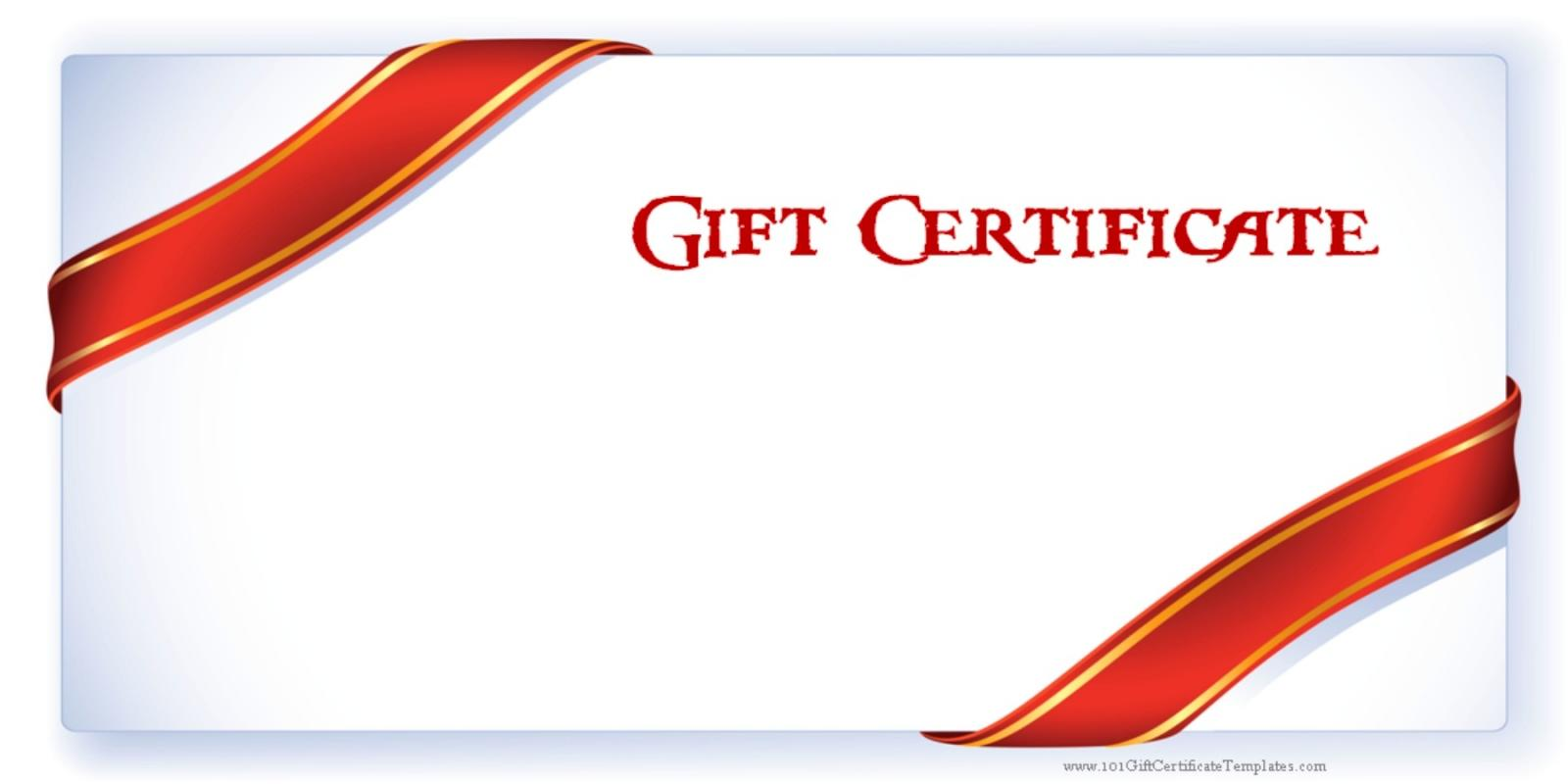 make you own gift certificate