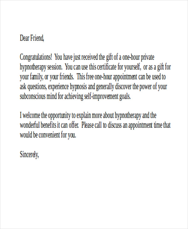 gift letter template