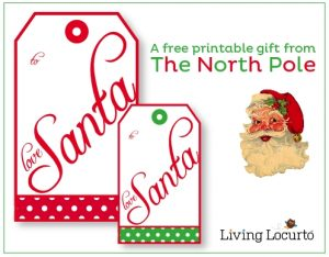 gift tag template free santa gift tags from the north pole christmas free printable labels in christmas gift tag template from santa