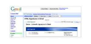 gmail signature template gmail linkedin email signatures