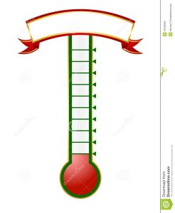 goal thermometer template goal thermometer