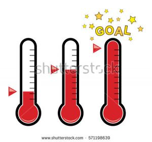 goal thermometer template stock vector vector clipart set of goal thermometers at different levels with degrees no numbers golden stars
