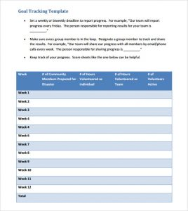goal tracker template goal tracking template download