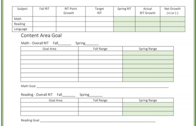 goal tracker template student goal tracking template x