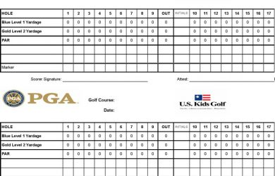 golf scorecard template family golf course scorecard template