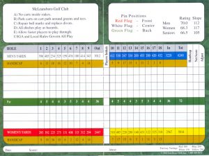 golf scorecard template scorecard