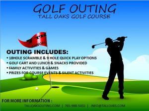 golf tournament flyer psd