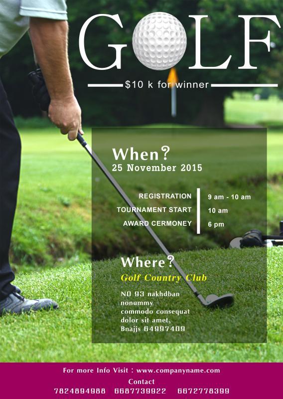 Golf Tournament Flyer Template Template Business