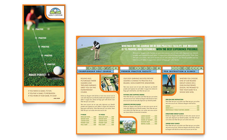 Golf Tournament Flyer Template  Template Business