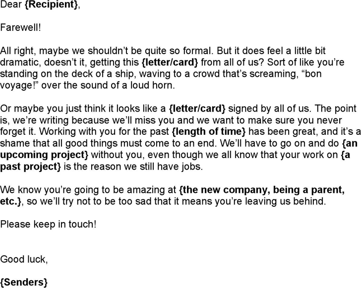 goodbye email to coworkers after resignation