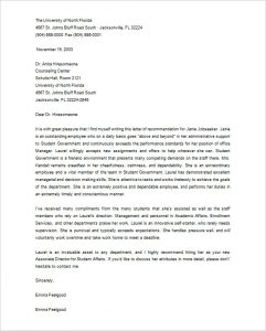 grad school letter of recommendation printable letter of recommendation for graduate school from employer