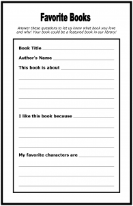 grade book template my favorite book worksheet