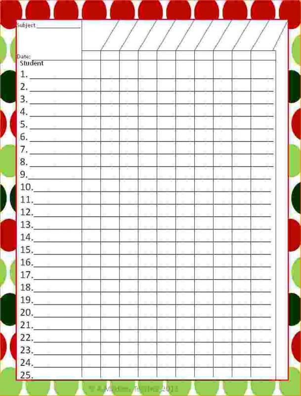 This is a picture of Dynamite Teacher Grade Book Printable