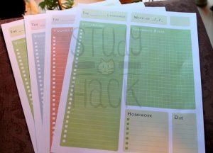 grade sheet template language planner