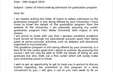 graduate school letter of intent letter of intent template graduate school