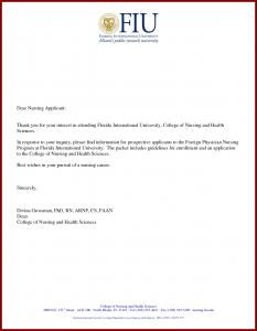 graduate school letter of intent sample sample application letter for nursing school admission