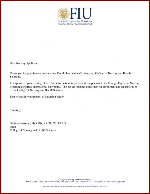Graduate School Letter Of Intent Sample Template Business