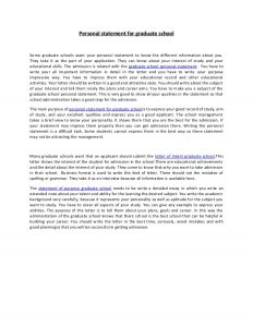 graduate school personal statement personal statement for graduate school