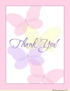 graduation card template pastel butterfly thank you card simple pink purple yellow front