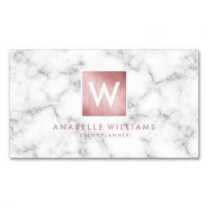 graduation card template stylish marble and rose gold printed texture business card