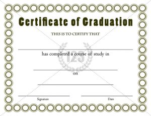 graduation certificate templates graduation certificates templates thumb