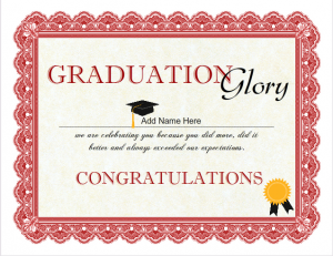 graduation certificate templates graduation glory