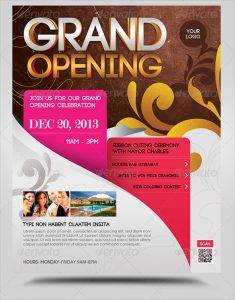 grand opening flyer grand opening flyer template psd