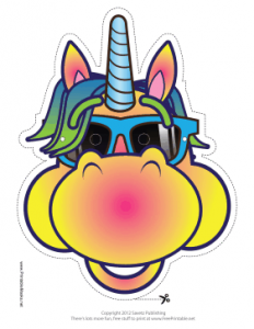 graph paper template pdf cool unicorn mask