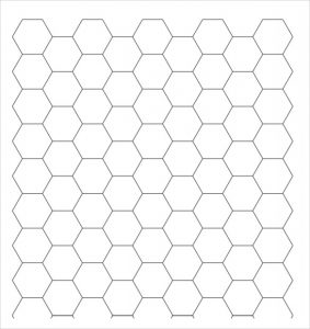 graph paper template pdf hexagon graph paper download