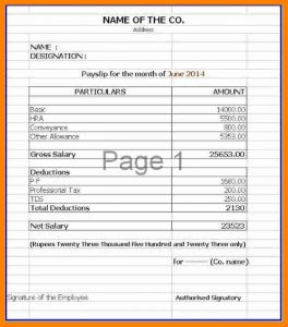 graphic design invoice salary statement format in excel