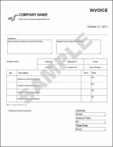 graphic design invoice template sample garage invoice template