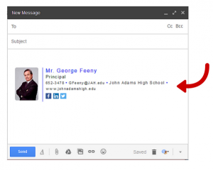 great email signatures compose email