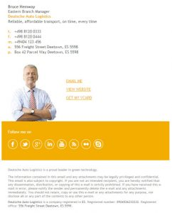 great email signatures mms email signature template bruce hemway