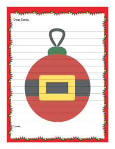 grocery list template word letter to santa with lines