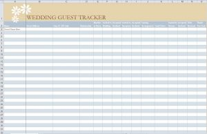 guest list template guest list template image