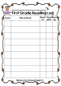 guided notes template reading log page