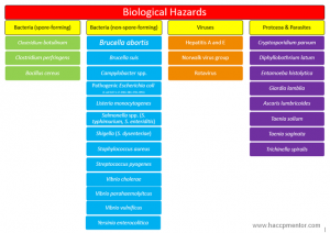 haccp plan example haccp mentor biological hazards