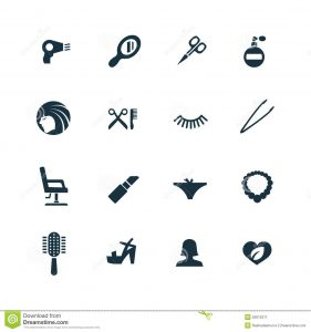 hair salon business plan beauty salon icons set white background