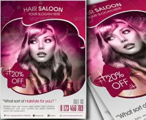 hair salon flyers free beauty salon flyer psd